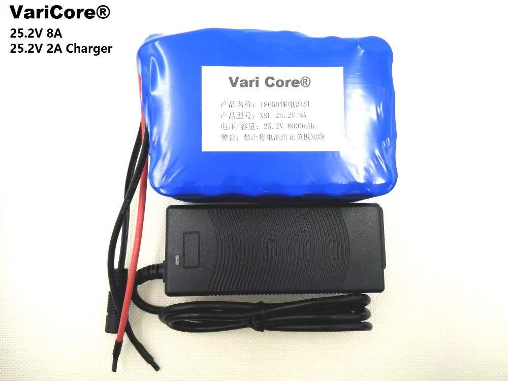 24V 8Ah 6S4P 18650 Battery li-ion battery 25.2v 8000mAh electric bicycle moped /electric/lithium ion battery pack+ 2A Charger