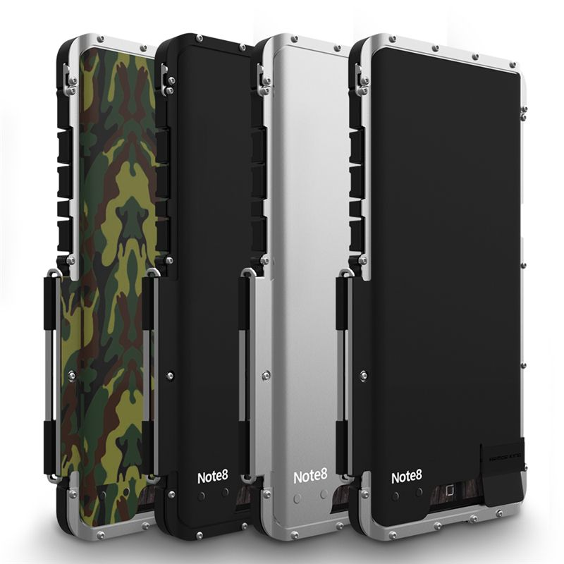 For coque Samsung S9 Case Plus S8 Note 8 Shockproof Aluminum Metal Flip Cases Armor For Samsung Galaxy S9 Case Note 8 Note8