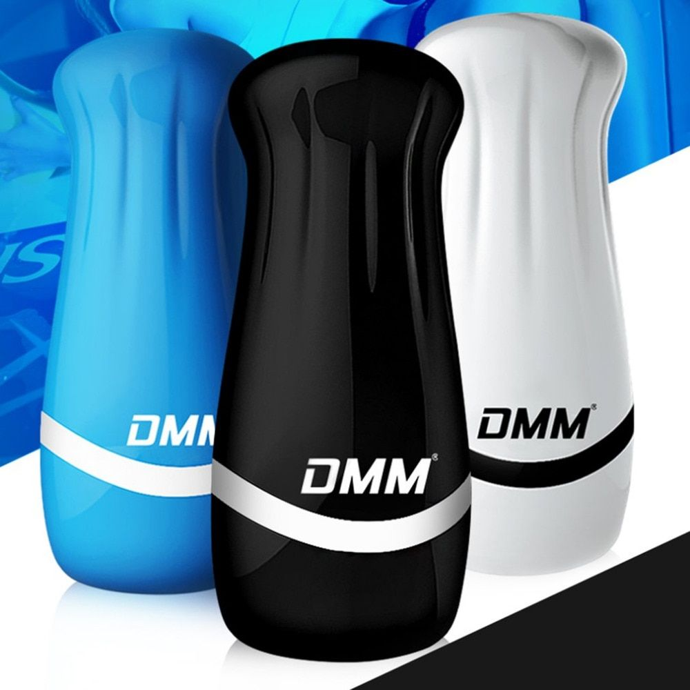 DMM 3D Realistic Pussy Male Masturbator Vibrator Soft Silicone Vagina Vibrating Masturbation Cup Stimulator Sex Toy For Men