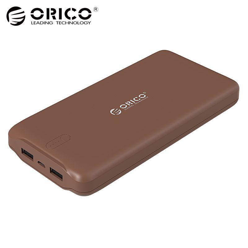 ORICO 20000mAh Power Bank Portable Charger Dual USB Powerbank External Battery Pack
