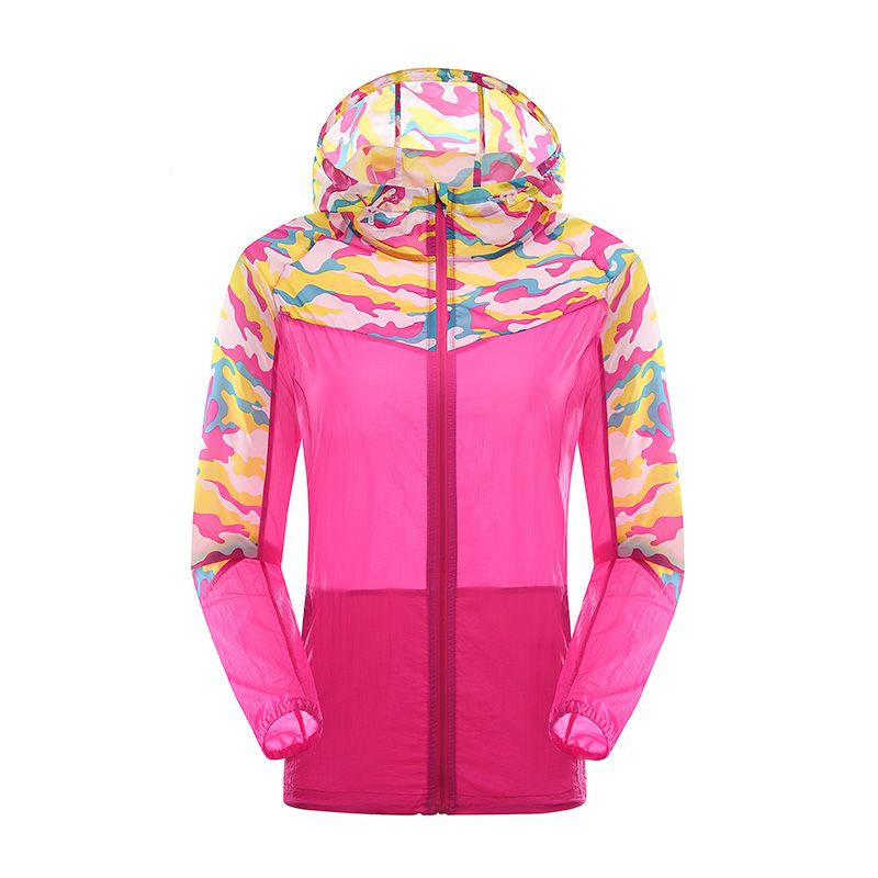 Womens Camouflage Light Outdoor Run Jacket Impossibly Ultra Thin Ladies Coat
