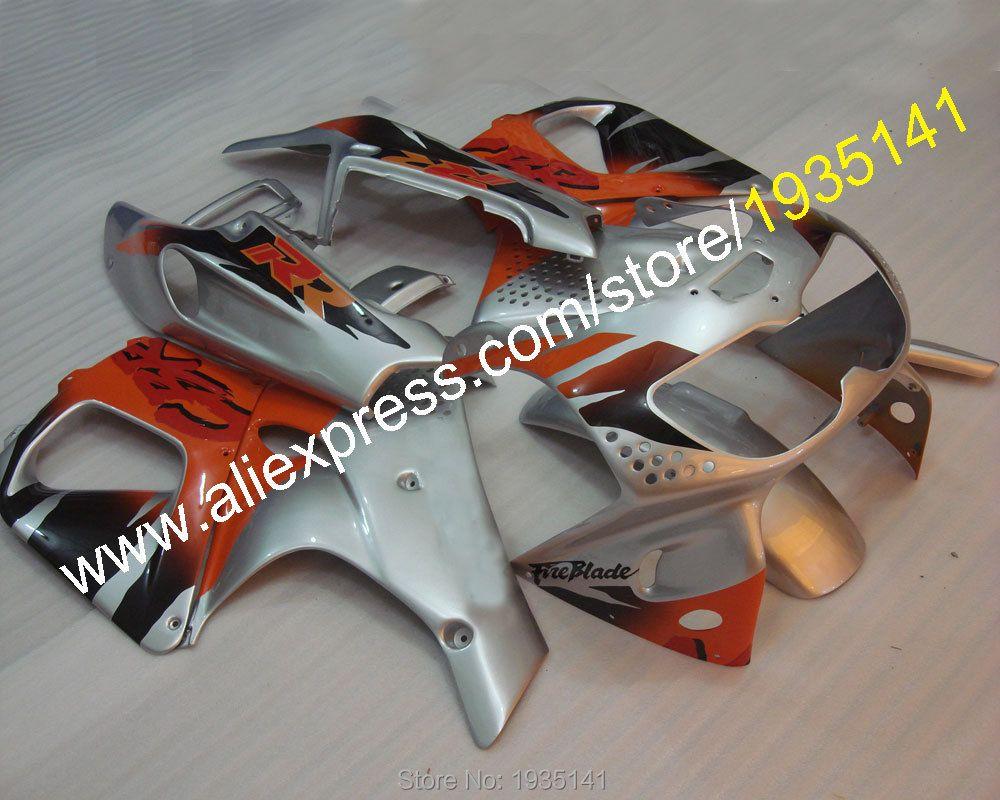 Hot Sales,Orange silver fairing For Honda CBR900RR 1996 1997 CBR 893RR 96~97 CBR 893 CBR900 RR aftermarket sportbike Fairing kit