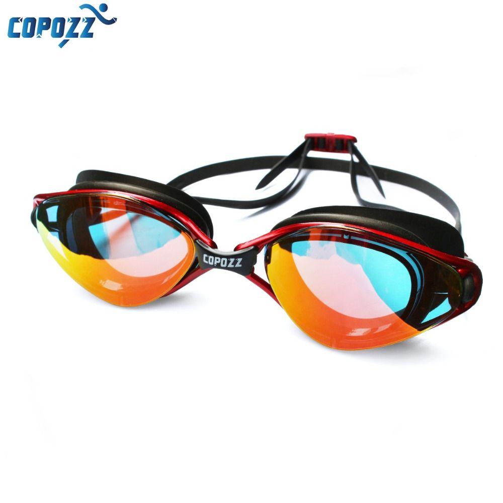 Copozz Professional Goggles Anti-Fog UV Protection Adjustable Swimming Goggles Men Women Waterproof silicone glasses Eyewear