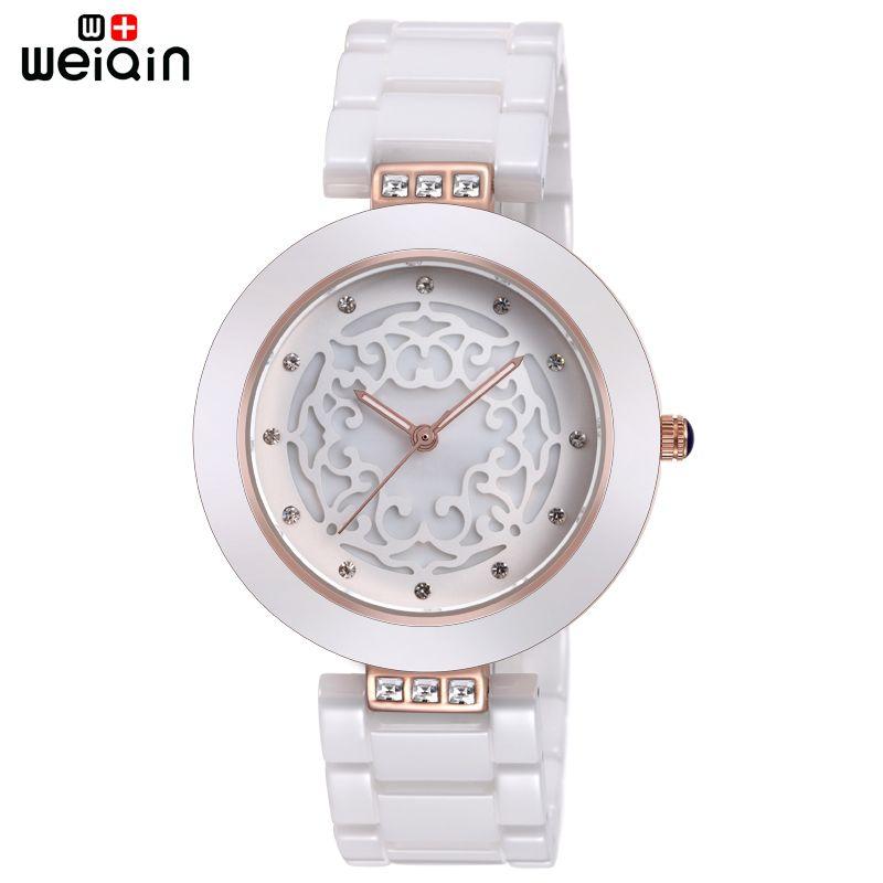 WEIQIN Brand High Quality Full Ceramic Women Watches Elegant Relojes <font><b>Mujer</b></font> 2018 Fashion Watch Women 3ATM Waterproof Montre Femme
