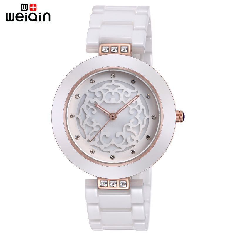 WEIQIN Brand High Quality Full Ceramic Women Watches Elegant <font><b>Relojes</b></font> Mujer 2018 Fashion Watch Women 3ATM Waterproof Montre Femme