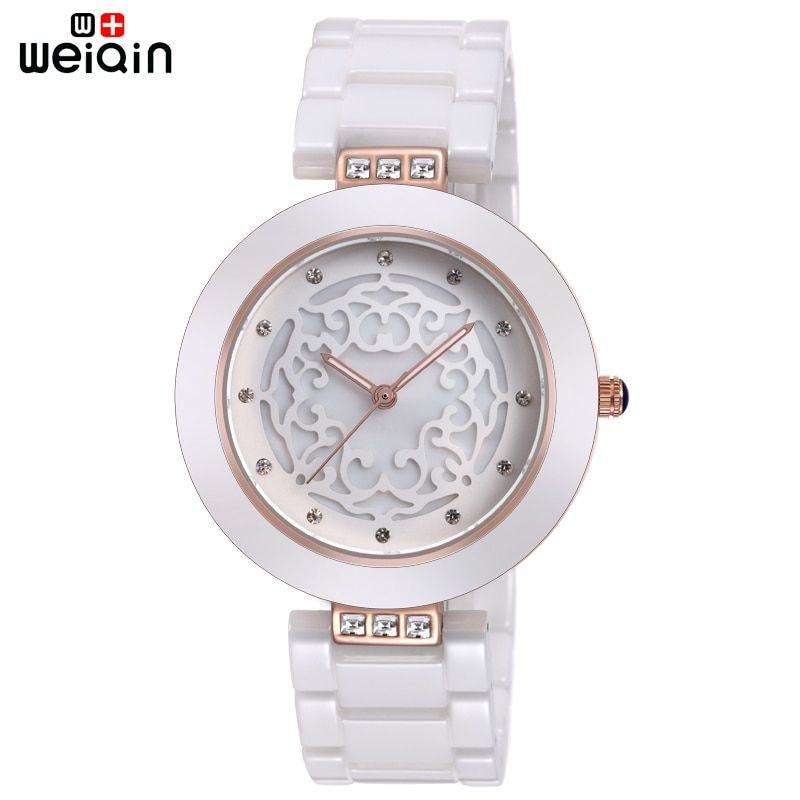 WEIQIN Brand High <font><b>Quality</b></font> Full Ceramic Women Watches Elegant Relojes Mujer 2018 Fashion Watch Women 3ATM Waterproof Montre Femme