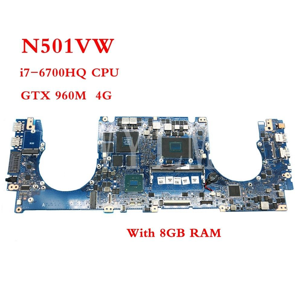 N501VW With i7-6700HQ CPU GTX960M 4GB mainboard REV2.0 For ASUS N501V N501VW G501V G501VW laptop motherboard Tested Working