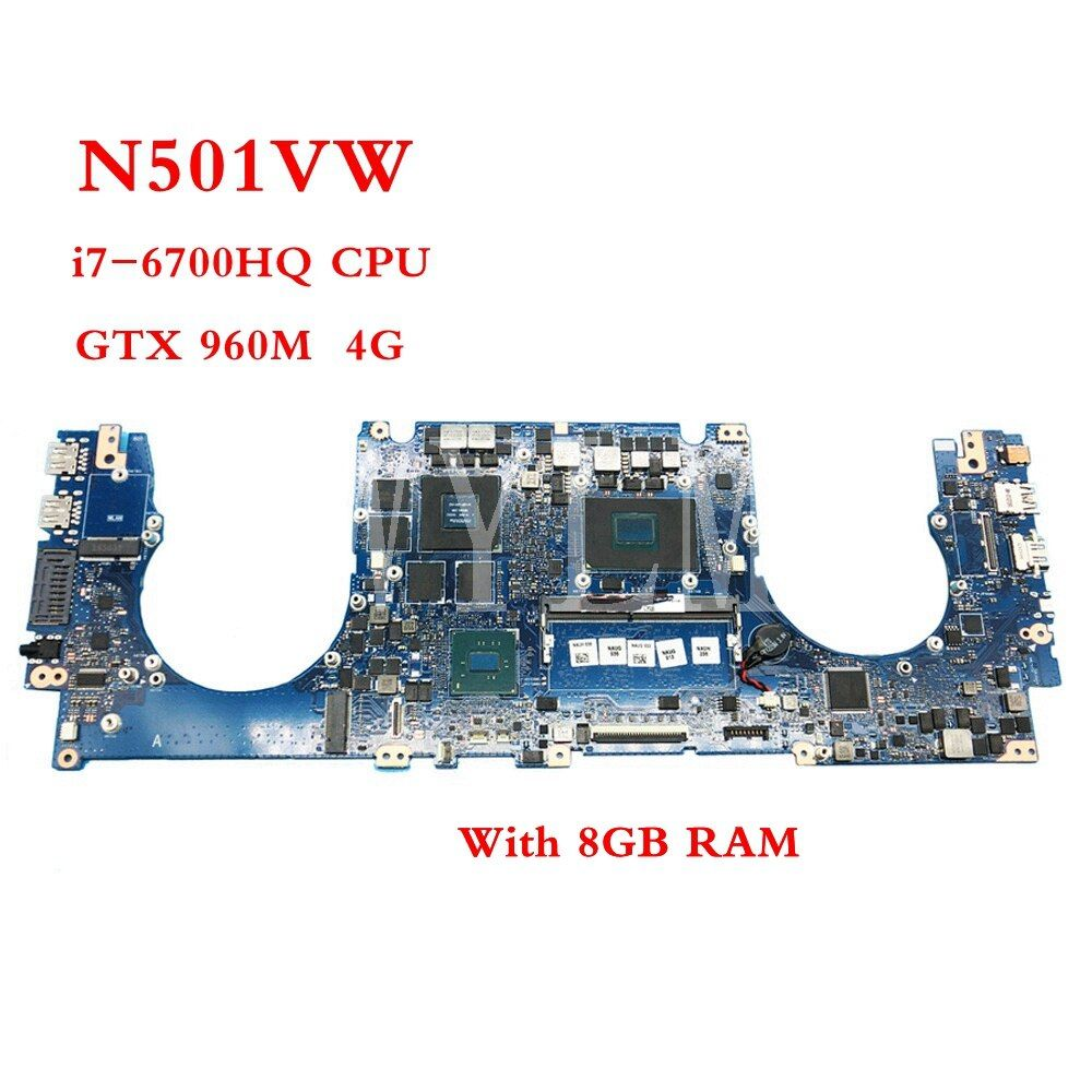N501VW With i7-6700HQ CPU GTX960M 4GB mainboard REV2.0 For ASUS N501V N501VW laptop motherboard Tested Working