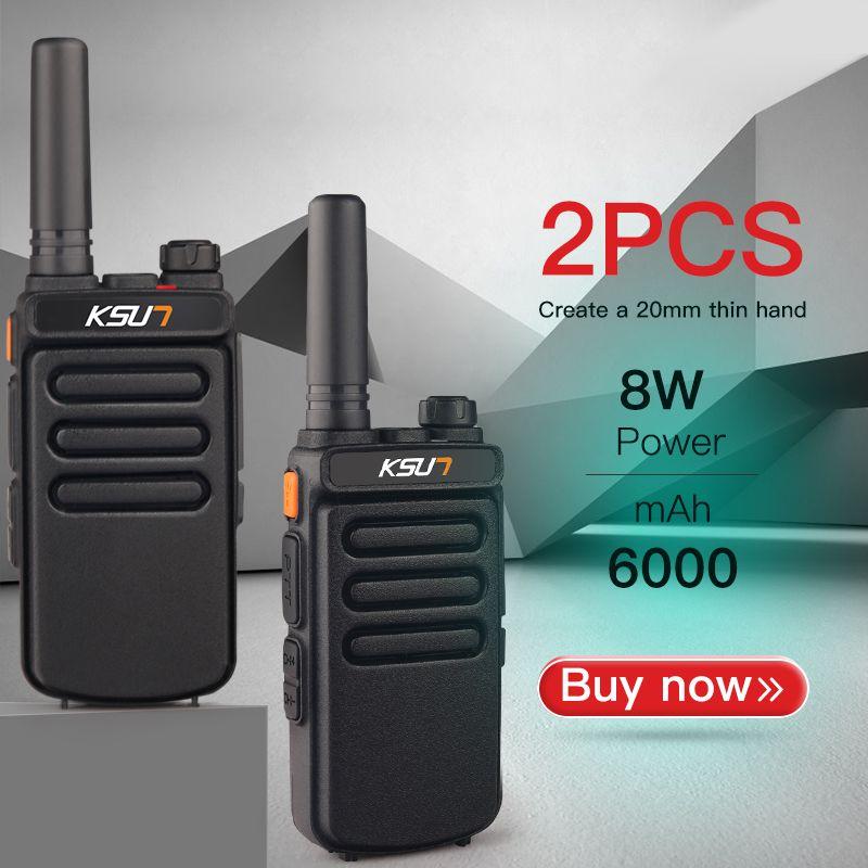 (2 stücke) KSUN X-30 Handheld Walkie Talkie Tragbare Radio 8 W High Power UHF Handheld Zwei Weg Ham Radio Communicator HF Transceiver