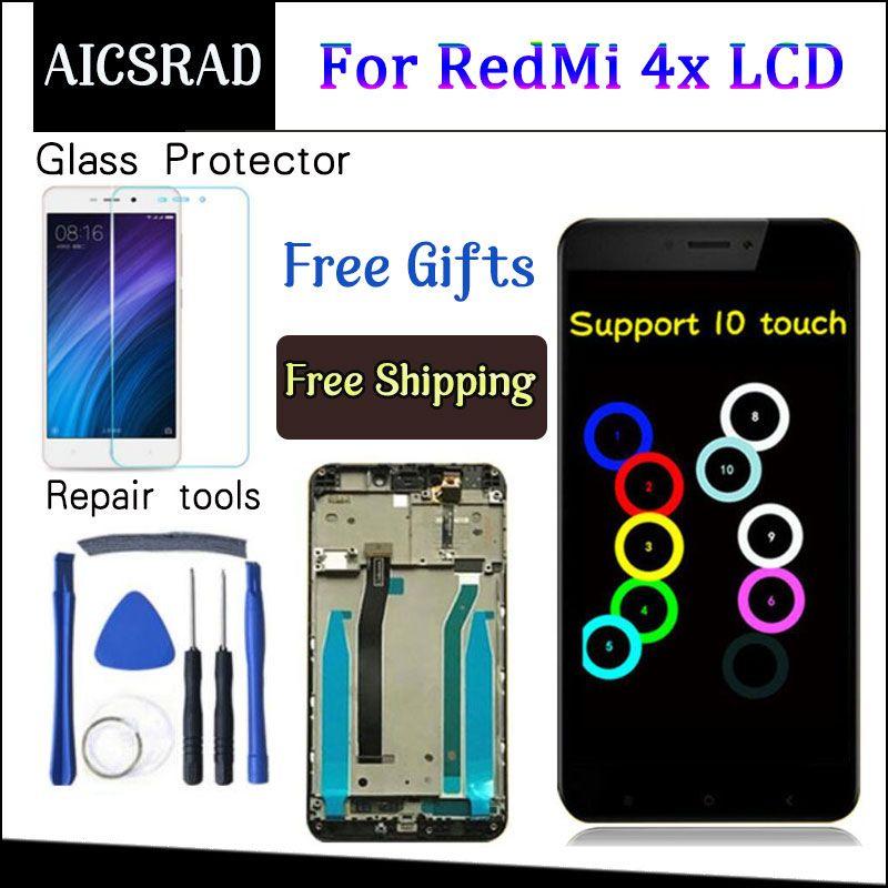 Pour Xiaomi Redmi 4X LCD Affichage à L'écran Tactile Digitizer Assemblée de Remplacement Avec Cadre Pour Xiaomi Redmi 4X Pro Premier 5.0 pouces