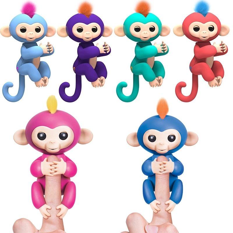 Счастливый обезьяна пакет палец обезьяна игрушка интерактивная SMART Красочные палец смарт-Индукционная Игрушечные лошадки малыш каваи игру...