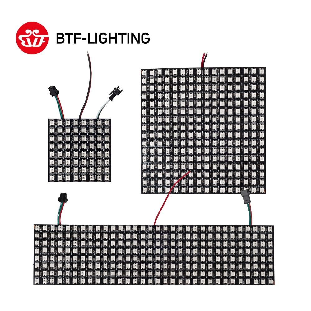 WS2812B RGB Led Panel Screen 8x8/8x32/16x16/20x50 Pixels WS2812 IC Chip Individually Addressable Full Color Panel DC5V