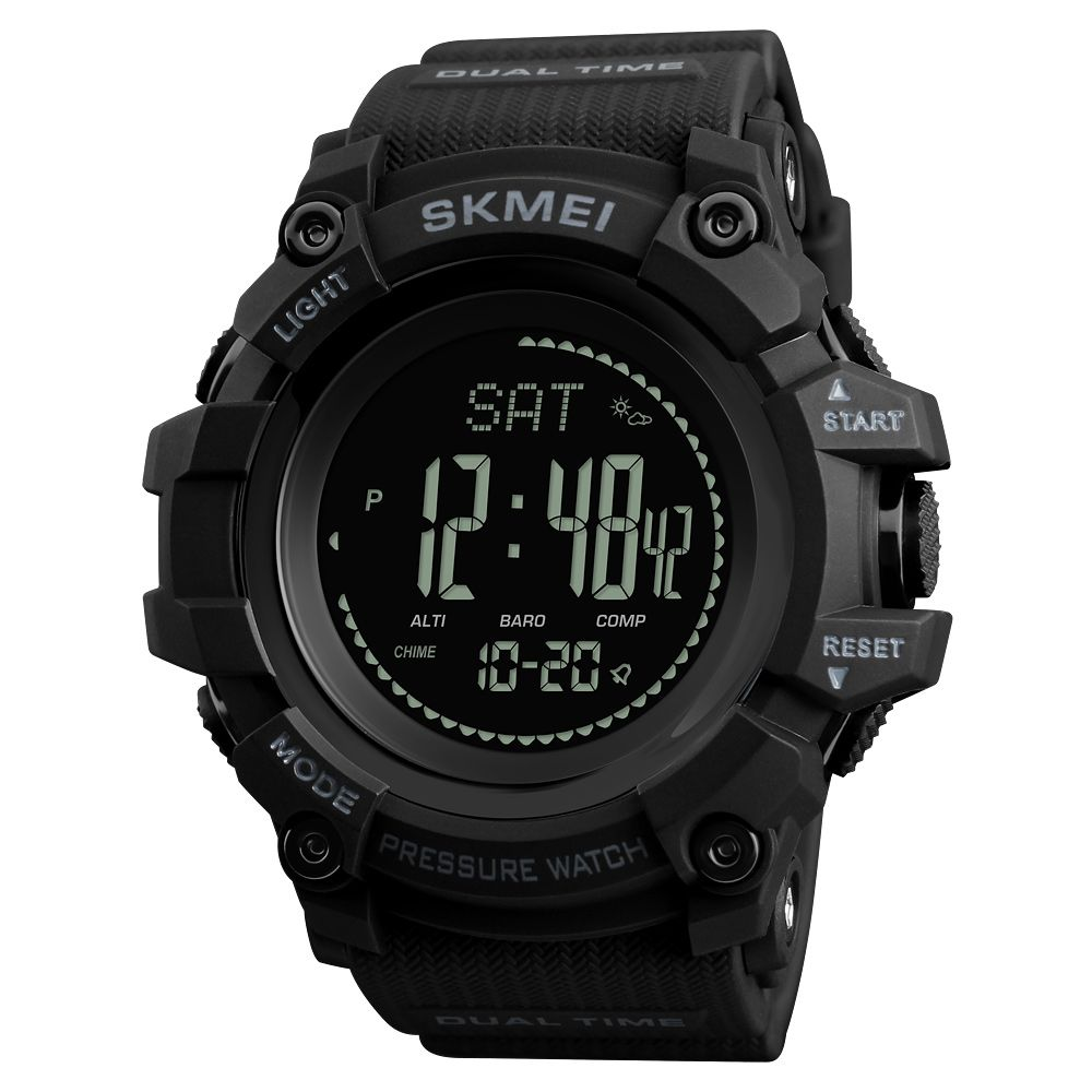 SKMEI Brand Mens Sports Watches Hours Pedometer Calories Digital Watch Altimeter <font><b>Barometer</b></font> Compass Thermometer Weather Men Watch
