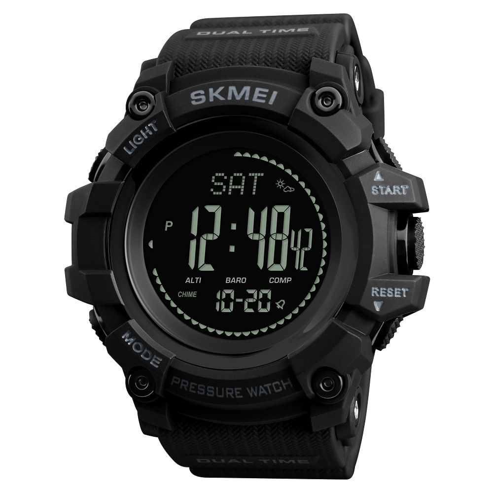 SKMEI Brand Mens Sports Watches <font><b>Hours</b></font> Pedometer Calories Digital Watch Altimeter Barometer Compass Thermometer Weather Men Watch