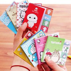 E33 100 páginas/Pack Kawaii Hello Kitty Totoro Bloc de notas Sticky Notes Bookmark MARCADOR DE LA PÁGINA papelería oficina de la escuela suministro