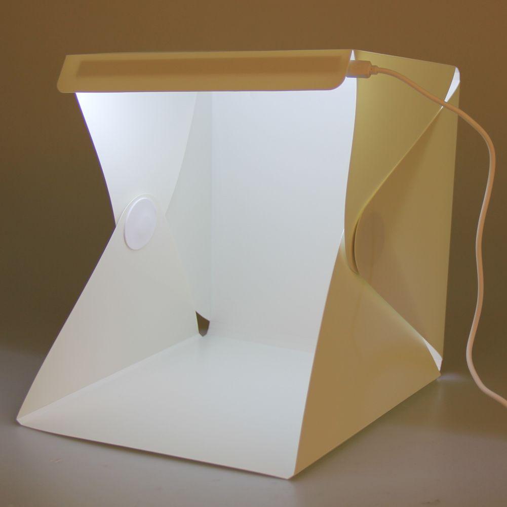Portable Photo Box Lightbox Mini softbox LED Photo Studio Folding Light box Room Photography Backdrop Light Box Softbox Tent Kit