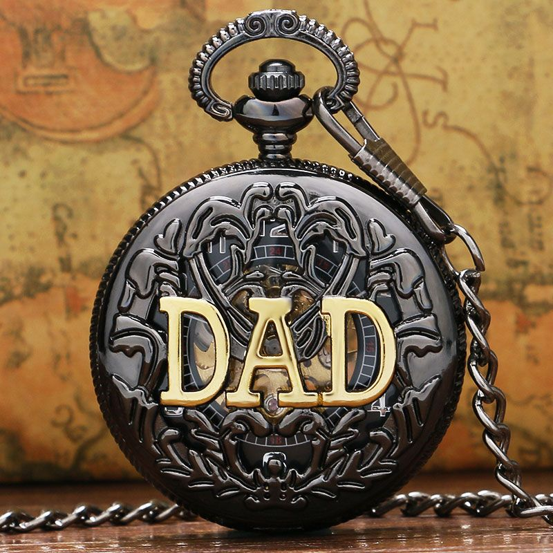 DAD Manual Semi-automatic Mechanical Pocket Watch for Dad Father Daddy gift Father's Day Gifts High Quality P853C