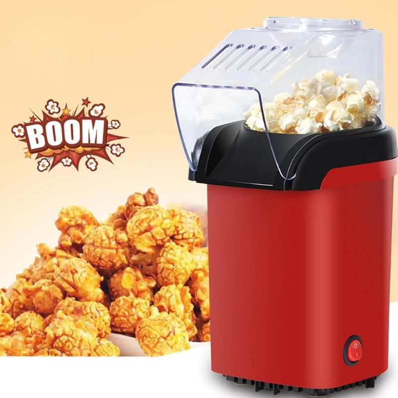 Alloet 1100W Popcorn Maker Household Mini Popcorn Machine Automatic DIY Corn Machine Popcorn Popper Kitchen Tools