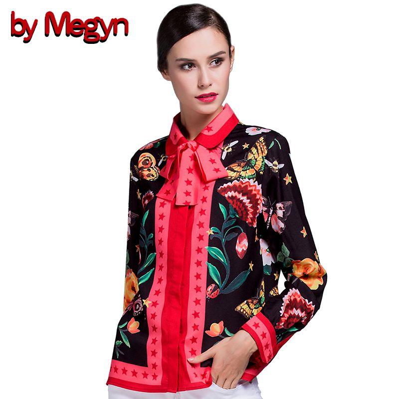 2017 Winter Frühling Frauen Shirts Langarm Weibliche Beiläufige Lose Blusen Floral Snake Print Mit Krawatte Plus Größe XXXL G529