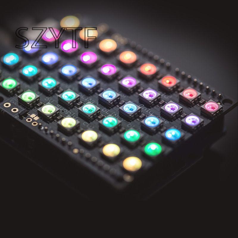 40 bit RGB LED WS2812 Pixel Matrix Shield FZ1596