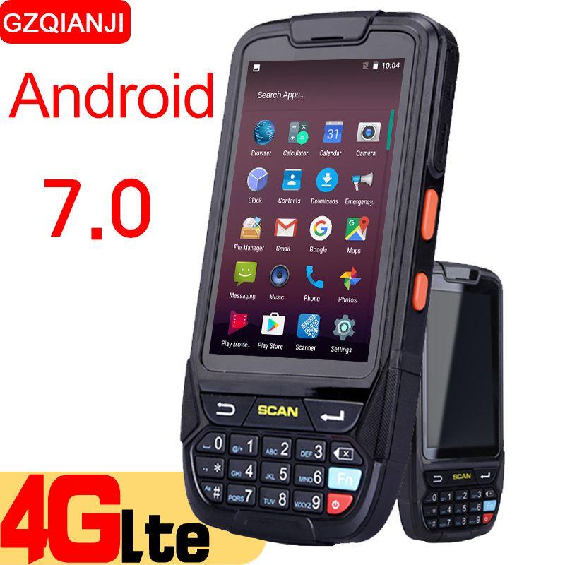 PDA Rugged Handheld Terminal Android 7.0 Data Collector Terminal Wireless 1D 2D QR Laser Barcode Scanner Reader NFC Terminal 4G