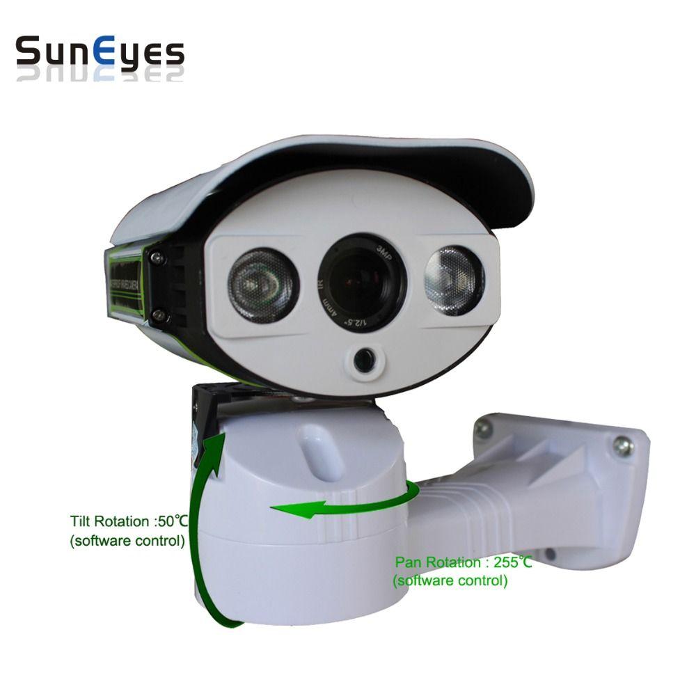 SunEyes SP-P1803SZ-POE PTZ IP Camera 1080P Full HD Outdoor Pan/Tilt/Zoom 6-22MM Optical Zoom with Micro SD Slot IR Night