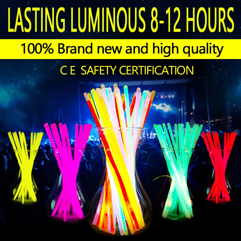 Nouveau Mode 100 Pcs Multicolore Glow Stick Lumière Parti Bracelets Fun Glow Bracelet dance party fournitures Copieux Livraison Gratuite