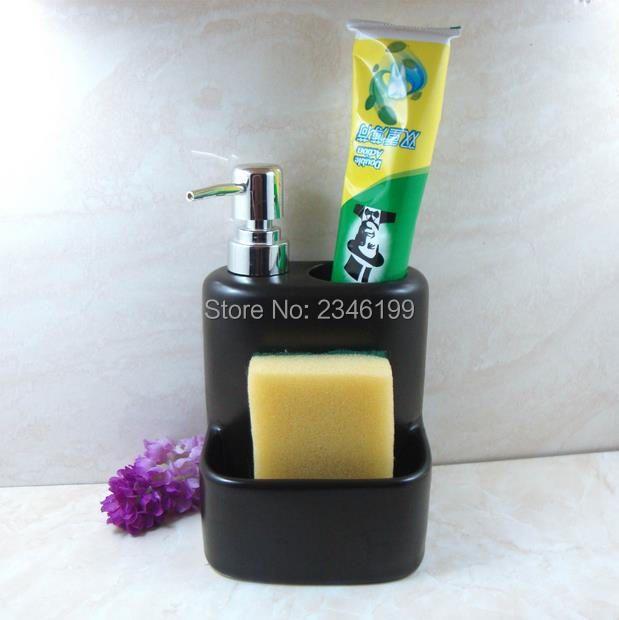 Ceramic Emulsion Empty Bottle Accessories Toothbrush Holder Shower Gel Shampoo Container Toothpaste Bracket Soap Dispenser