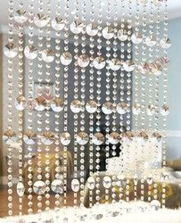 20 meters/lot kristal glass beads strands pintu/jendela tirai dekoratif teras partisi tirai selesai tirai jendela