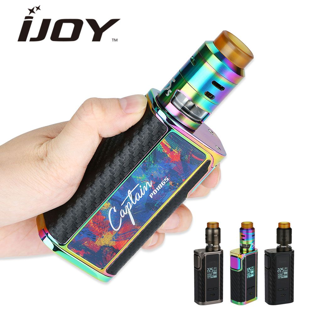 225W Original IJOY Captain PD1865 TC MOD 2.6ml RDTA 5S Tank Huge OLED Screen Captain PD1865 Kit No 18650 Battery VS Alien 220w