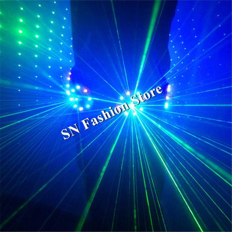 T18-1 RGB luz láser cinturón danza de baile llevado trajes para hombre láser traje láser DJ traje Club viste bar cantante discoteca ropa led