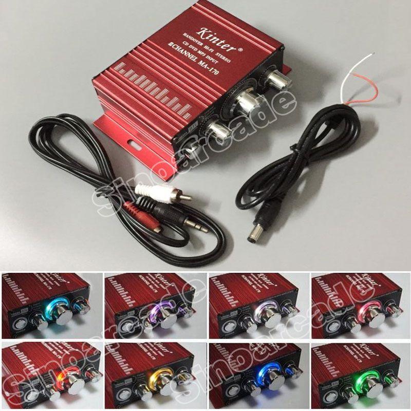 Jeu d'arcade MA-170 12 V 2 canaux led Mini HIFI cadeaux souvenirs pour Arcade MAME JAMMA Machine Armoires