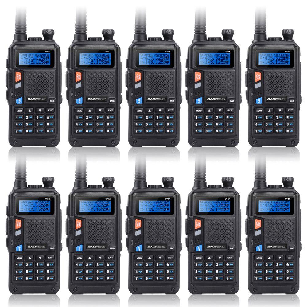 Upgrade 10PCS BAOFENG UV-5X Upgraded Version of UV-5R UV5R Two-Way Radio Walkie Talkie FM Function Original Main Board