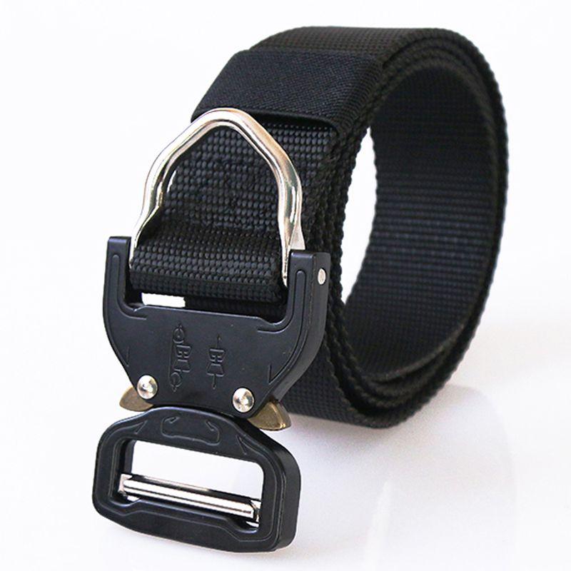US Army SWAT Combat Tactical Belt Men's Military Belts Army Thicken Nylon Zinc Alloy Buckle Molle Carry Survival Waist Belt