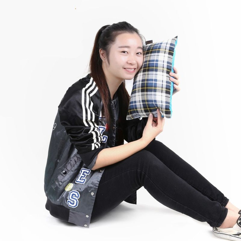 1pcs new type of travel air cushion camping beach car portable pillow rest bed outdoor pillow