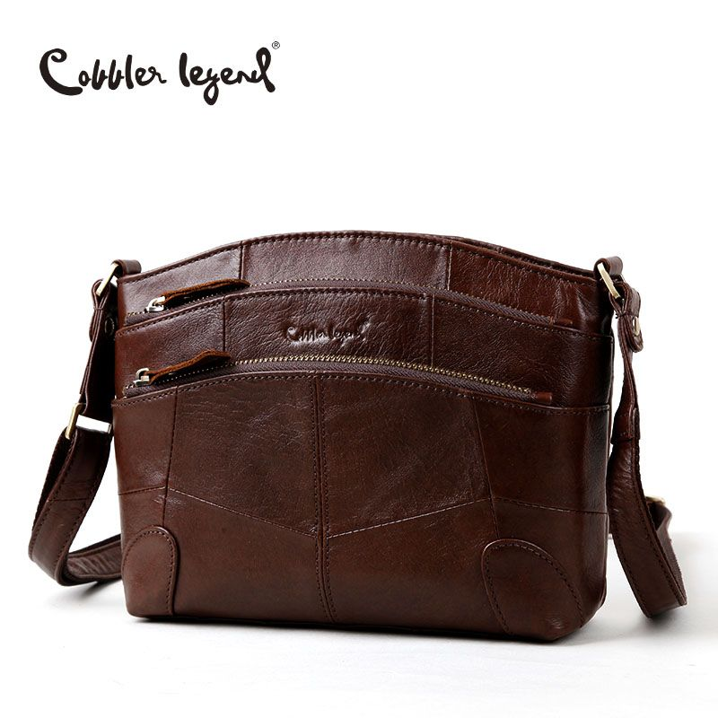 Cobbler Legend Multi Pockets Vintage Genuine Leather Bag <font><b>Female</b></font> Small Women Handbags Bags For Women 2018 Shoulder Crossbody Bag