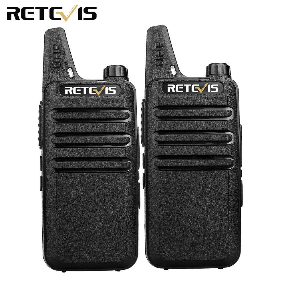 2pcs Mini Walkie Talkie Retevis RT22 2W UHF CTCSS/DCS TOT VOX Scan Squelch Two Way Radio Communicator Ham Radio Hf Transceiver