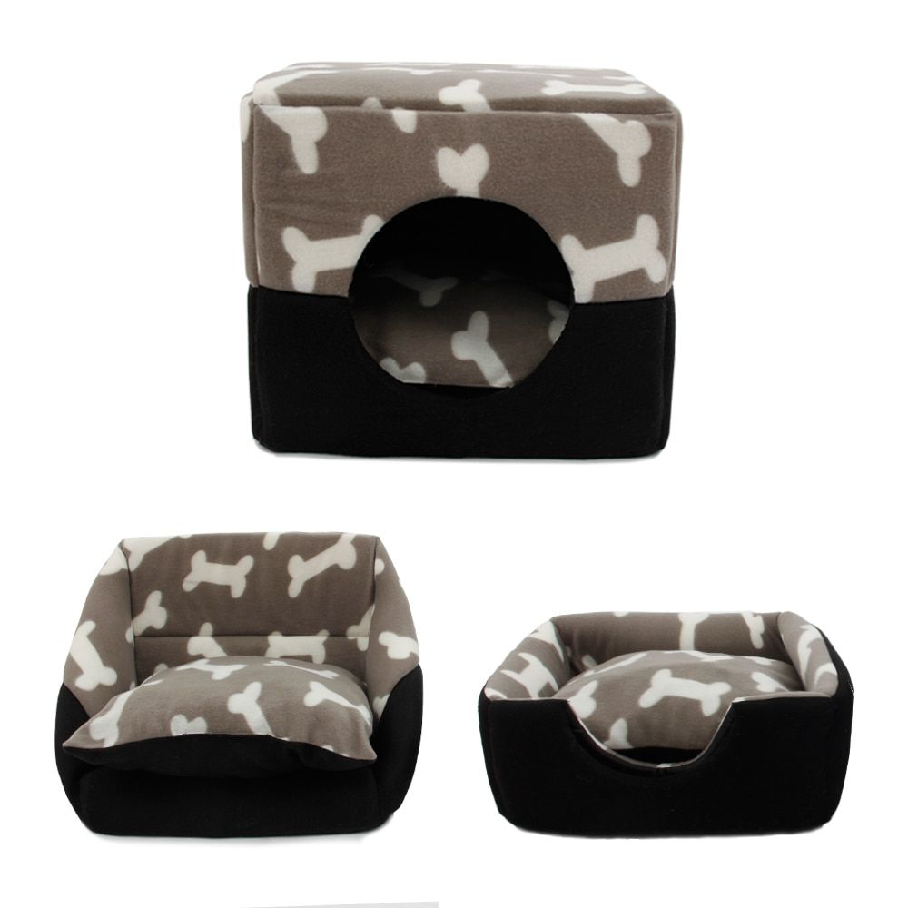 Pet Dog Multi-functional House Bed Puppy Kennel Warm Doggie Sofa Dog House Cat Nest Pad Mat For Small Medium Dog Pet Supplies