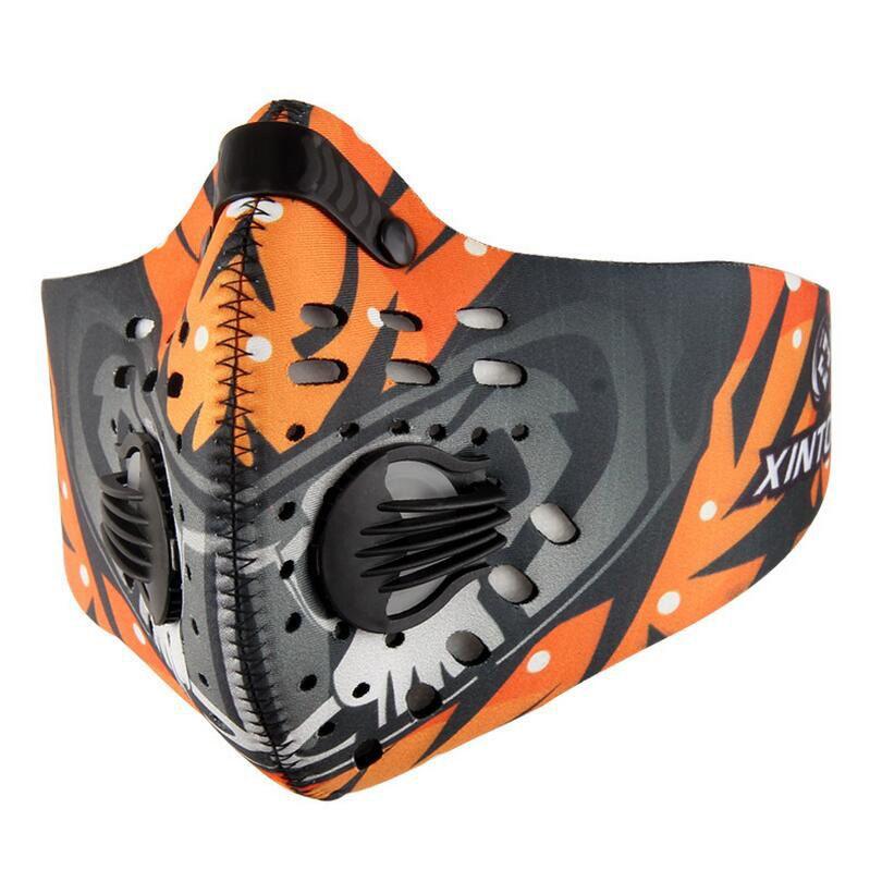 Anti-Verschmutzung Winddicht Radfahren Masken Mund-muffel Staubdicht Fahrrad Sport Road Radfahren Kohlefilter Maske Half Face Abdeckung