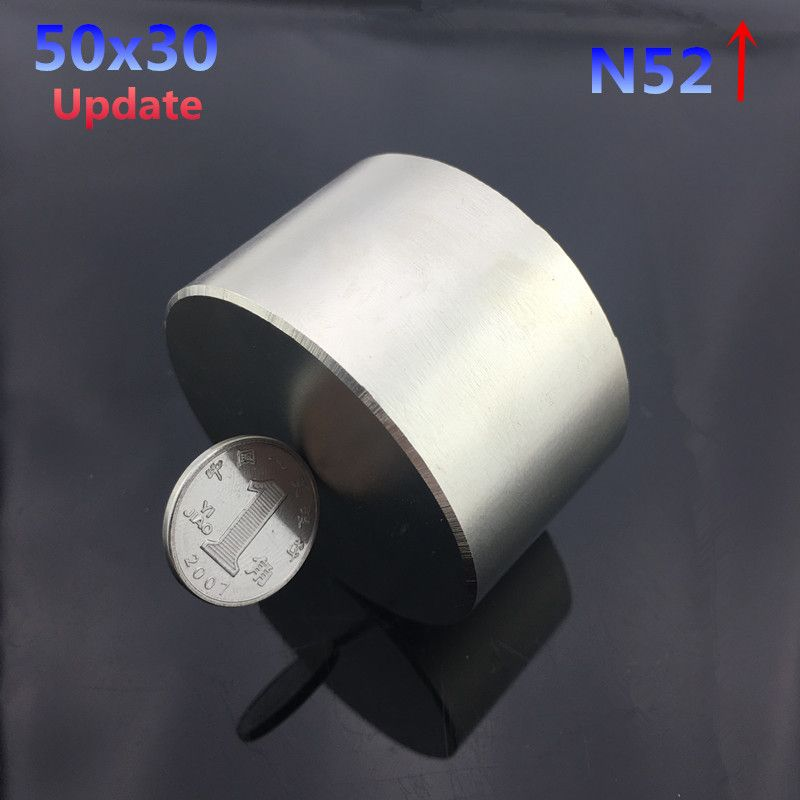 1pc N52 magnet 50x30 mm  hot round magnet 50*30mm Strong magnets Rare Earth Neodymium Magnet 50x30mm wholesale 50*30
