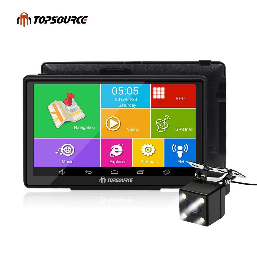 TOPSOURCE android voiture gps navigation 7 pouces écrans camion GPS 8 GB AVIN automobile navigateur Europe/USA/russie/espagne ect carte gratuite