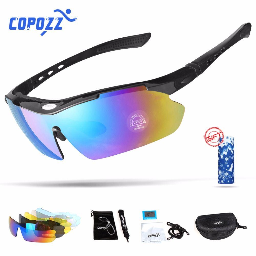 Copozz Polarized Cycling Glasses Outdoor MTB Mountain Goggles Eyewear Bicycle Sun Glasses <font><b>Bike</b></font> Sport Sunglasses Myopia 5 Lens