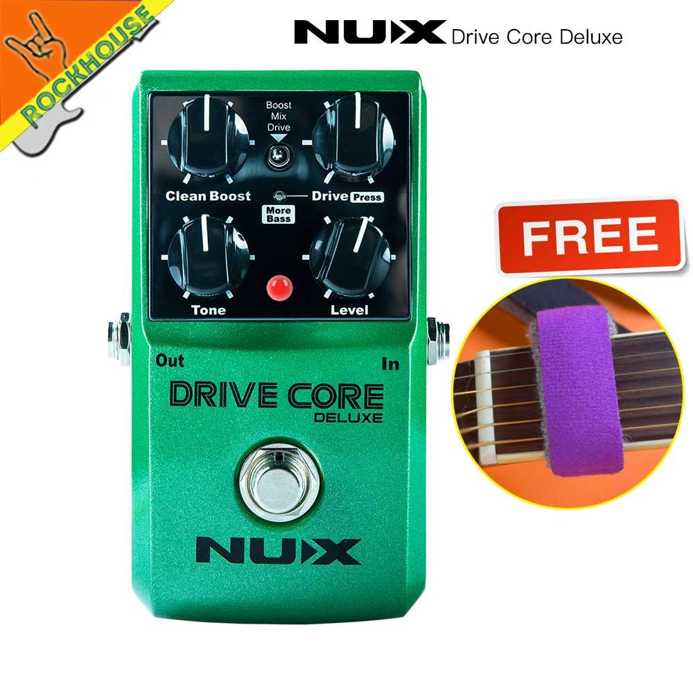 NUX Drive Core Deluxe Upgrade overdrive guitar effect pedal high gain with clean&drive booster Stable performance free shipping