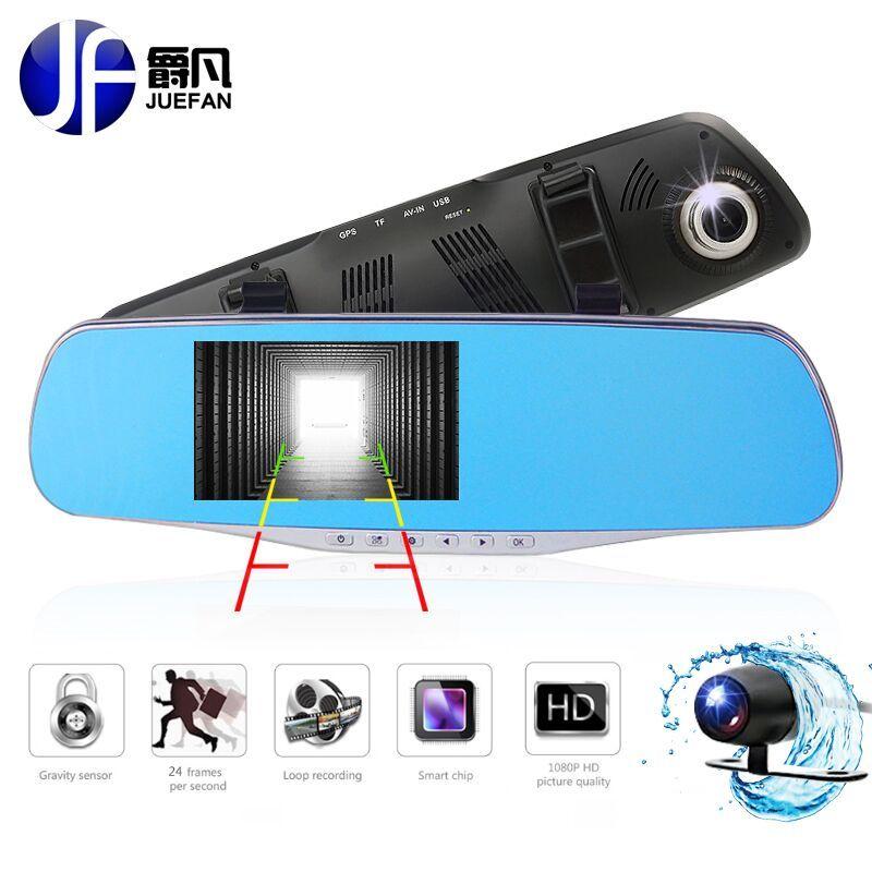New car DVR dash cam car camera dvrs Full HD1080P Night Video Recorder Mirror Monitor Dashboard Registrar with Rear View Camera