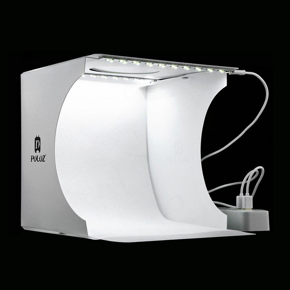 Mini Pliage Lightbox Photographie Photo Studio Softbox 2 Panneau LED Lumière Douce Boîte Photo Fond Kit boîte à Lumière pour DSLR caméra