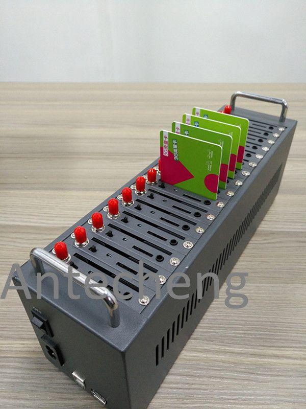Neue Kleine Design LTE 4g modem für massen-sms, SIM7600CE 4g 16 portmodemlache unterstützung at-befehl