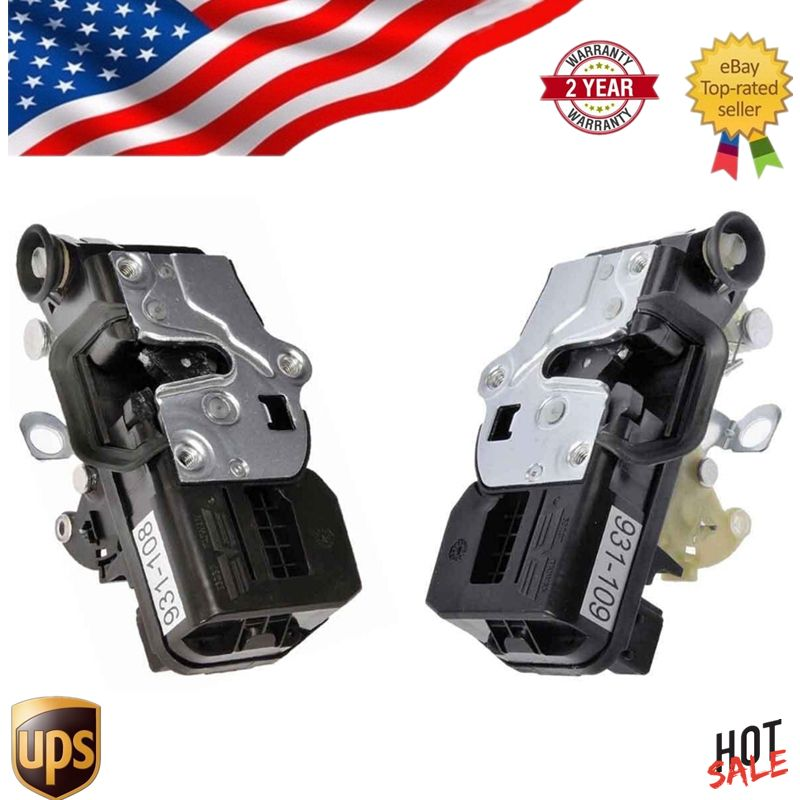 Pair Rear Door Lock Actuator For Cadillac Escalade Chevy Tahoe GMC Yukon driver and passenger side