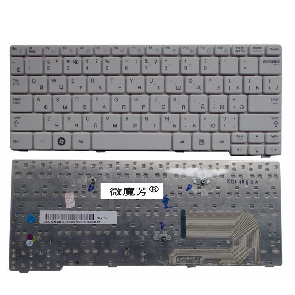 RU White New FOR Samsung N148 NB20 NB30 NB30P N143 N145 N148P N150 N128 Laptop Keyboard Russian