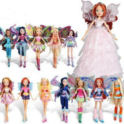 2017 Newest Winx Club Doll rainbow colorful girl Action Figures <font><b>Fairy</b></font> Bloom Dolls Draculaura Frankie Stein Clawdeen Wolf