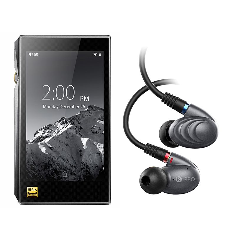 Bundle Sale of X5III+F9PRO Portable Hi-Res Android Music Player X5 MKIII With Knowles Triple Driver Hybrid InEar Headphone F9pro